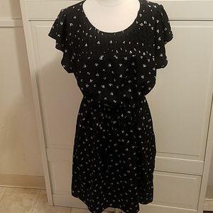 H&M Mama Maternity Black White Dress Large